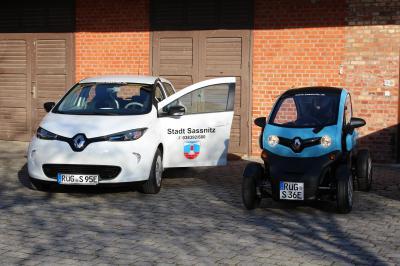 Die neuen Dienstwagen der Stadtverwaltung (Foto: Stadt Sassnitz)