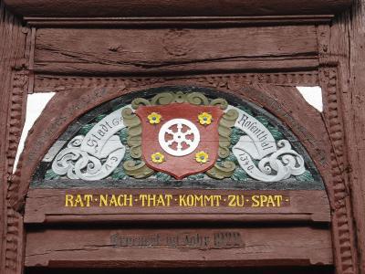 Tür des Rosenthaler Rathauses