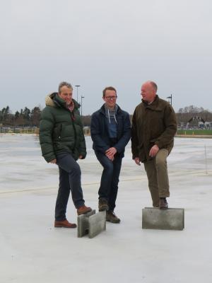 Vorschaubild zur Meldung: Grundsteinlegung für Norddeutschlands größten Trampolinpark am Gauß`schen Bogen