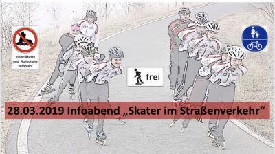 Vorschaubild zur Meldung: EM-Skateteam lädt zum Infoabend Skater im Straßenverkehr