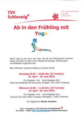 Vorschaubild zur Meldung: Yoga-Kurs