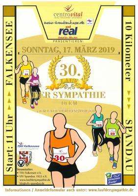 Unser Bild zeigt das Plakat für den 30. Lauf der Sympathie.