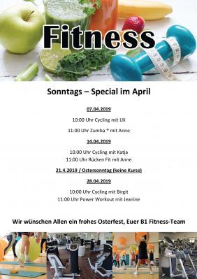 """Vorschaubild zur Meldung: Unser Fitness Special """"Sonntagskurse"""""""