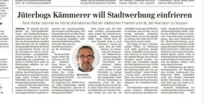 """Vorschaubild zur Meldung: Stellungnahme des Bürgermeisters zum MAZ-Artikel vom 14.03.2019 - """"Kämmerer will Stadtwerbung einfrieren"""""""