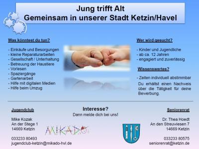 Vorschaubild zur Meldung: Jung trifft Alt - Gemeinsam in unserer Stadt Ketzin/Havel