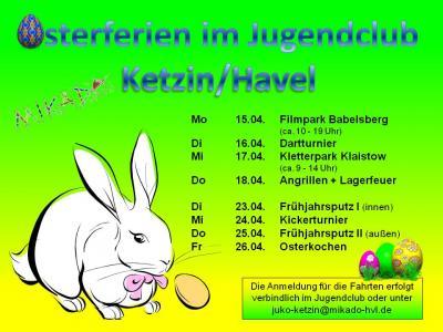 Foto zur Meldung: Osterferien im Jugendclub Ketzin/Havel