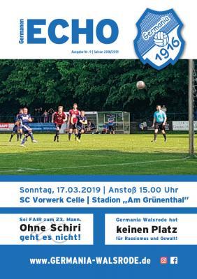 Germanen-Echo Nr.9 - SC Vorwerk Celle  17.03.2019