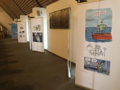 """Foto zur Meldung: Ausstellung """"Alle in einem Boot"""" in unserer Pfarrkirche"""