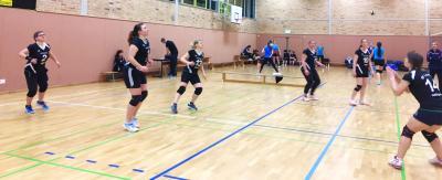Foto zur Meldung: Frauentagsturnier bringt die Mannschaft der Volleyball-Damen an ihre Grenzen