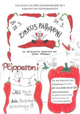 """Vorschaubild zur Meldung: Der WPK Darstellendes Spiel lädt ein zum Musiktheaterstück """"Zirkus Päpparoni"""""""