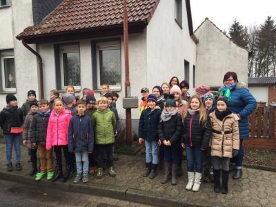 """Foto zur Meldung: Aktion """"Sicherer Schulweg"""" der Marienkäferschule Bahrdorf"""