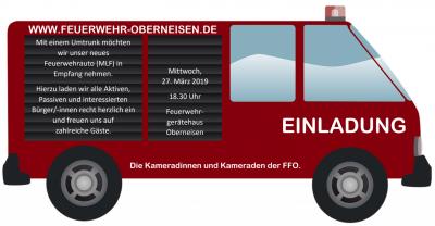 Foto zur Meldung: Unser neues Feuerwehrauto kommt
