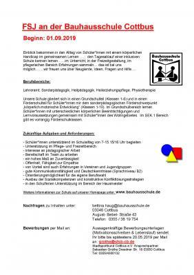 Vorschaubild zur Meldung: Ein FSJ an der Bauhausschule
