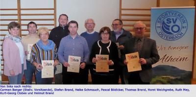 Vorschaubild zur Meldung: Ehrung langjähriger Vereinsmitglieder 2019