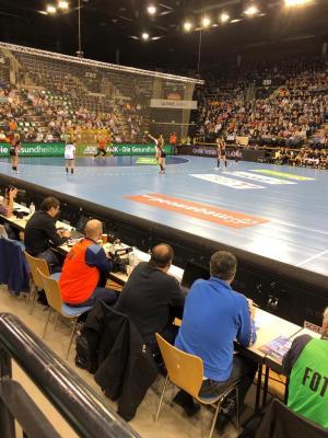 Auf Einladung des DHB durfte das Länderspiel gegen die Niederlande besucht werden