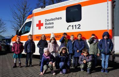 Ein Teil der Vorschulkinder des Städtischen Kindergartens in Dierdorf