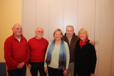 Von links: Heinz Bluhm, Alfons Tuschen, Brigitte Glückstein, Klaus Hell, Gisela Witt