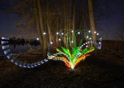 Vorschaubild zur Meldung: Lightpainting am Wildauer Dahme-Ufer