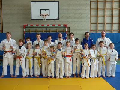 Foto zur Meldung: Erfolgreiche Judo-Gürtelprüfung im SC-Hemmingen-Westerfeld