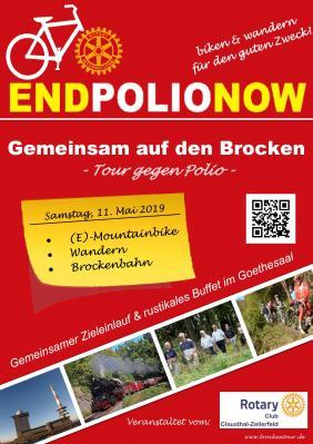 Vorschaubild zur Meldung: Brockentour am 11. Mai 2019: Aktion von Rotary International