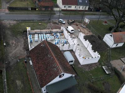 Foto zur Meldung: Baufortschritt beim Feuerwehrgerätehaus