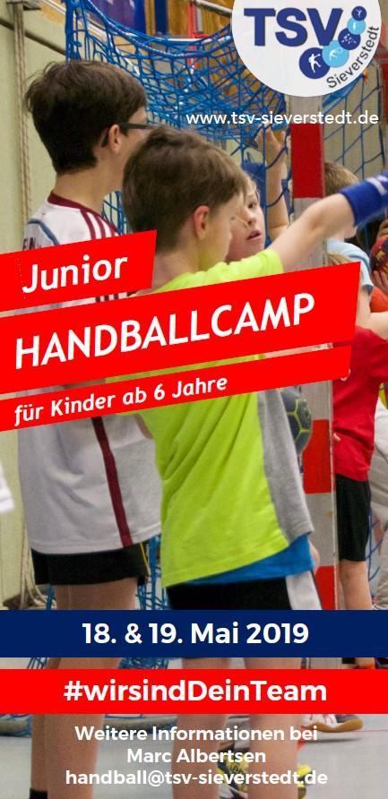 Vorschaubild der Meldung: Junior-Handballcamp