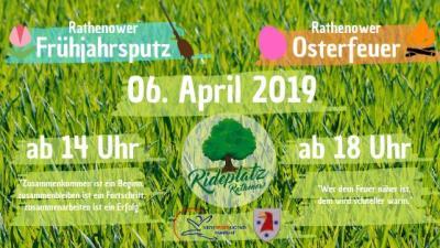 Foto zur Meldung: Frühjahrsputz auf dem Rathenower Rideplatz