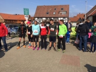 Siegerehrung 5,2 Km mit Kathrin Lindert und Maik Weichert