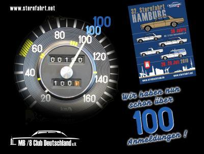 """Sternfahrt Hamburg: Die 100 ist """"geknackt"""" !"""