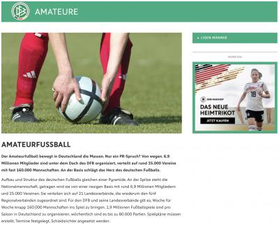 Foto zur Meldung: DFB - Dachverband aller Fußballvereine