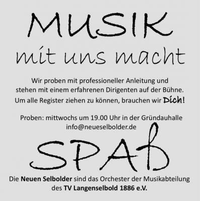 """Foto zur Meldung: """"Neue Selbolder"""" suchen Musiker"""