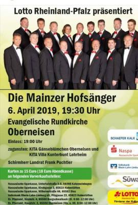Vorschaubild zur Meldung: Die Mainzer Hofsänger kommen