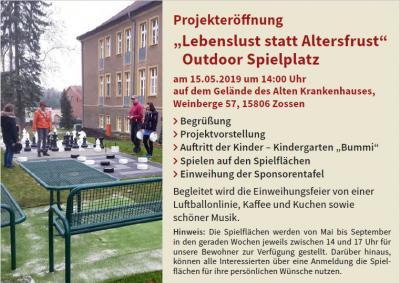 """Vorschaubild zur Meldung: Projekteröffnung """"Outdoor Spielplatz"""""""