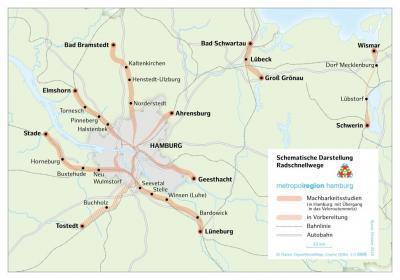 Vorschaubild zur Meldung: Radschnellnetz in der Metropolregion Hamburg: Ihr Wissen ist gefragt!