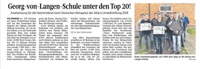 Vorschaubild zur Meldung: Georg-von-Langen-Schule unter den Top 20!