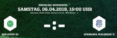 Foto zur Meldung: II. Herren - Breloher SC ist Gastgeber für Germania Walsrode II