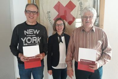 Foto zur Meldung: Ehrung für 75. Blutspenden