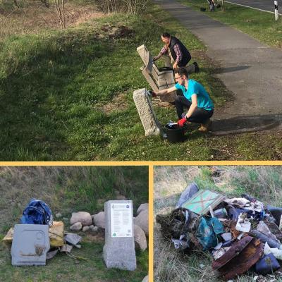 Foto zur Meldung: Winterspuren am Liederweg beseitigt