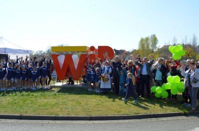 Zum Frühlingserwachen am 7. April wurde die WiR-Skulptur der Stadtwerke Wittenberge feierlich enthüllt I Foto: Martin Ferch