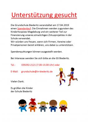 Vorschaubild zur Meldung: Die Grundschule Biederitz sucht Unterstützung!