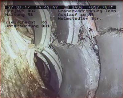 Eine Kamerabefahrung sorgte für Gewissheit: Der Kanal ist eingestürzt. (Foto: Gemeinde Grasleben)