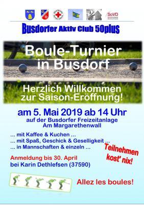 Plakat Boule Eröffnung