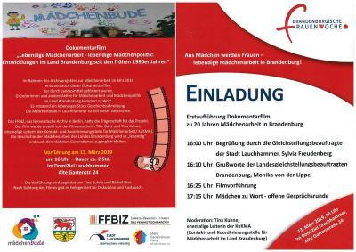 Foto zur Meldung: Pressemitteilung: Brandenburgische Frauenwoche am 13. März 2019 ab 16 Uhr im DomiZiel Lauchhammer