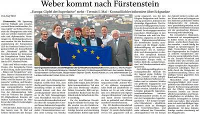 Vorschaubild zur Meldung: Weber kommt nach Fürstenstein