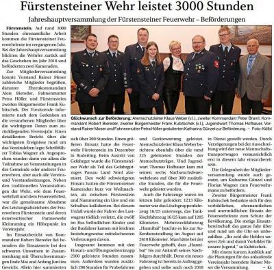 Vorschaubild zur Meldung: Fürstensteiner Wehr leistet 3000 Stunden