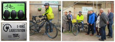 Einweihung der Ladestation für E-Bikes