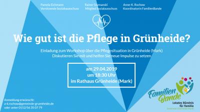 Foto zur Meldung: Einladung zum Workshop über die Pflegesituation in Grünheide (Mark)