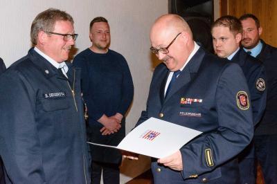 Foto zur Meldung: Gemeinsame JHV der Feuerwehr Hauneck am 06.04.2019