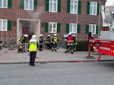 Foto zur Meldung: Brand im Meyenburger Amtsgebäude