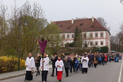 Foto zur Meldung: Die Karwoche hat in unserer Pfarrei mit dem Palmsonntag begonnen